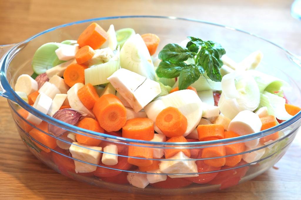 krem z pieczonych warzyw