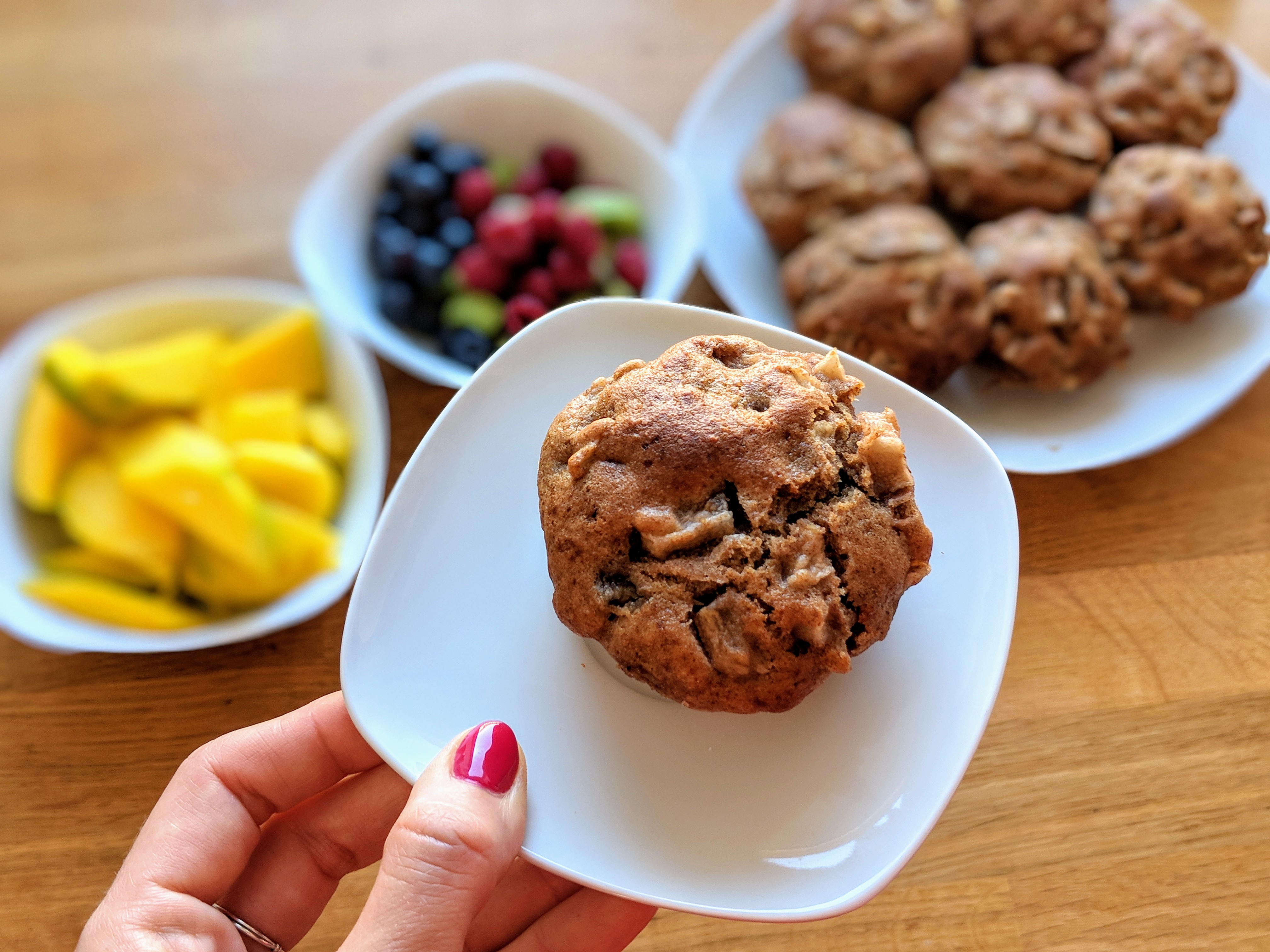 Zdrowe muffinki z jablkami