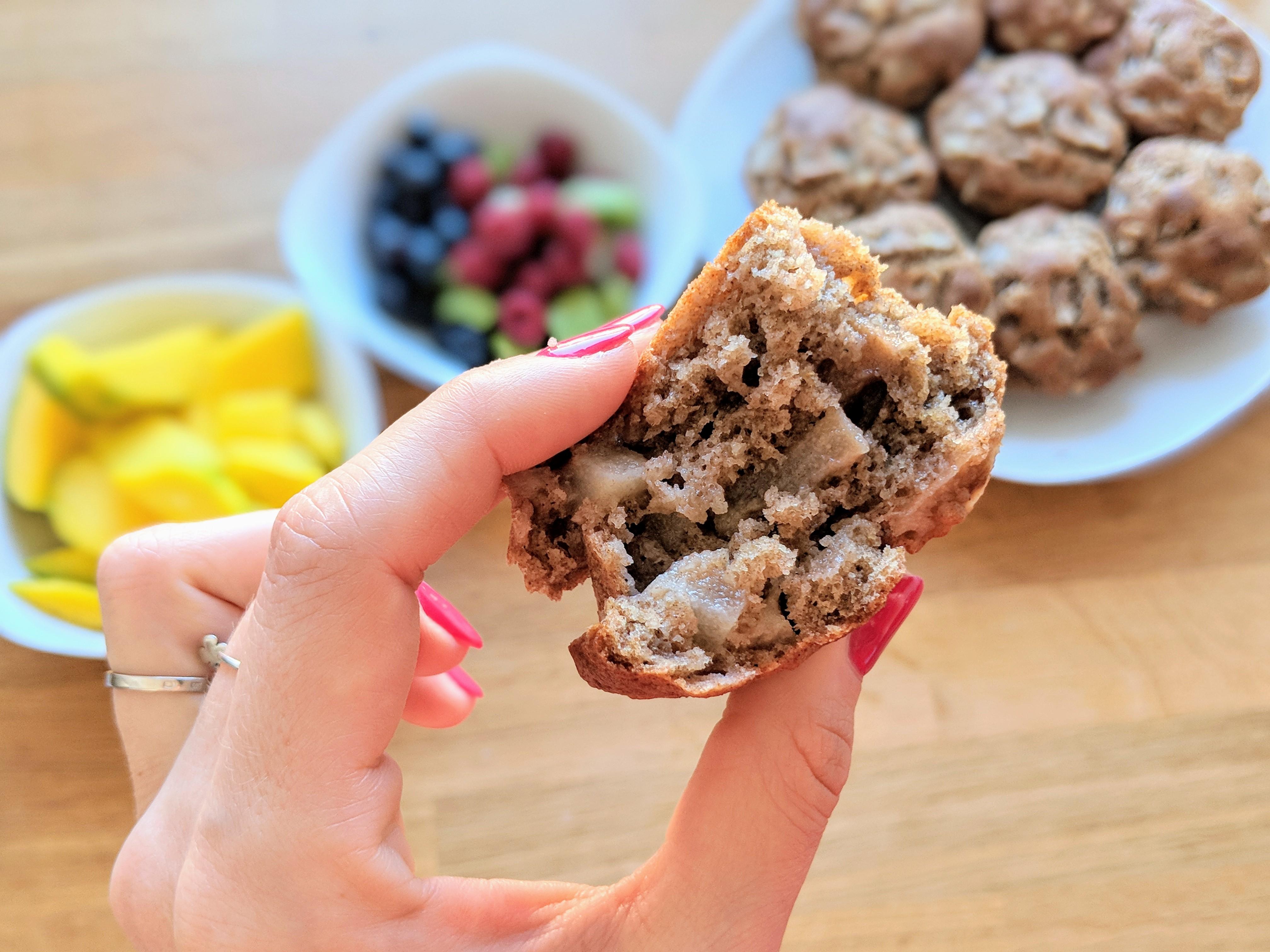 zdrowe muffinki z jabłkami